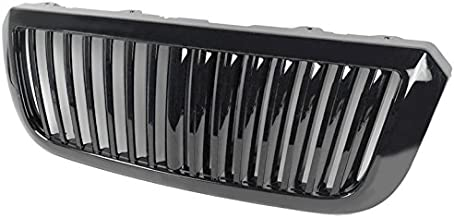 ZMAUTOPARTS Vertical Style Upper Hood Grille Grill Gloss Black For 2004-2007 Ford Ranger