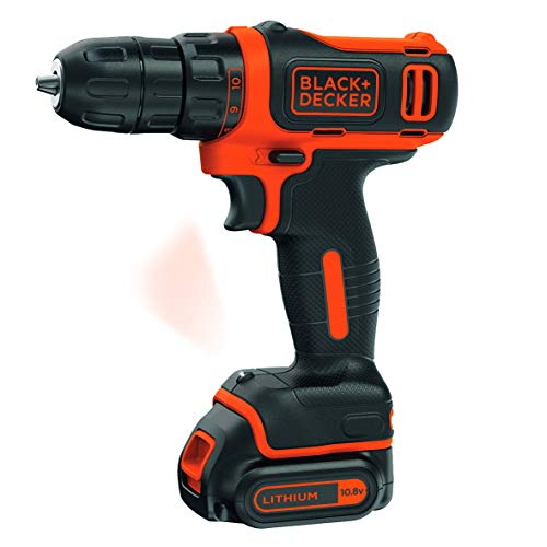 BLACK+DECKER Trapano Avvitatore Compatto a Batteria Litio, 10.8V, BDCDD12-QW