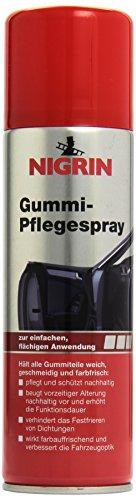 Nigrin 74056 Gummipflege-Spray, 300 ml Sprühdose, Pflege für Gummiteile am Auto, pflegt und schützt nachhaltig