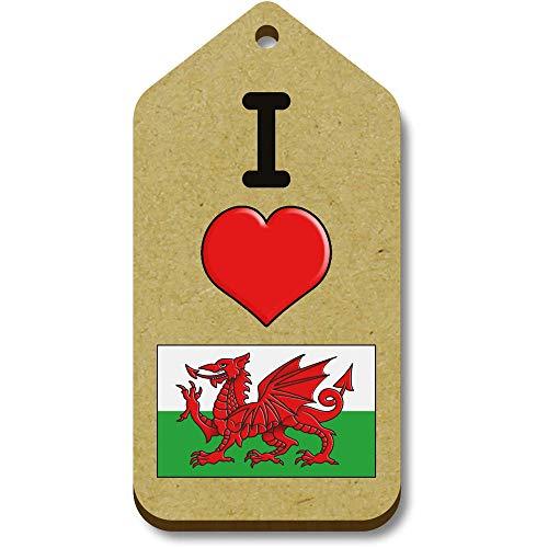 Azeeda 10 x 'I Love Wales' 66mm x 34mm Gift Tags (TG00001079)