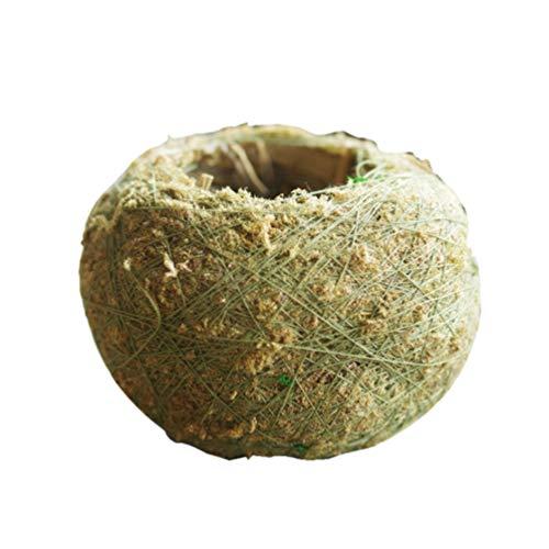 Yarnow 5 Pcs Naturel Planteur Pots De Fleurs Tissent Vert Boule De Mousse Bonsaï Porte-Plante Décoratif Kokedama Jardin Décor pour Succulent Petit Arbre