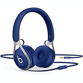 Beats Ep Wired On-Ear Headphones - Battery Free for Unlimited Listening Built in Mic and Controls - Blue