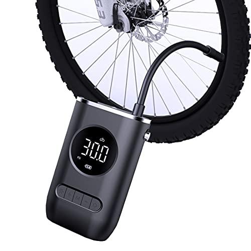 Mini compresor de aire portátil para inflador de neumáticos con indicador de presión digital LED, máximo 150 PSI, bomba de aire para bicicleta, coche, motocicleta, bola, bomba inflable