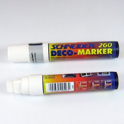 Kreidestift Stift Flüssigkreide Malkreide 2-15mm weiß