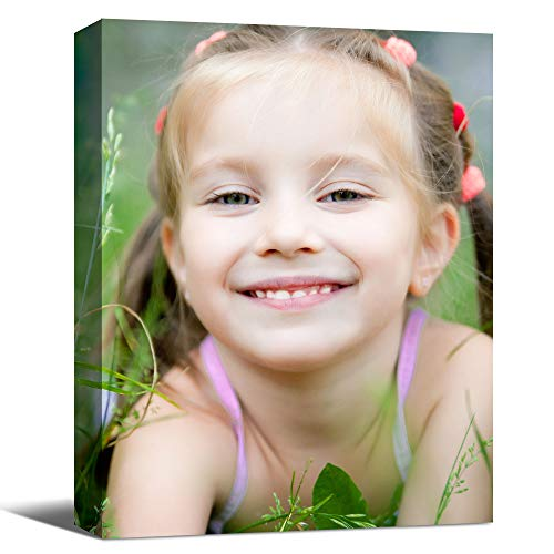 SENEW Custom Canvas Prints with Your Photo, Personalized Pictures Canvas Wall Art for Bedroom, Living Room, Wedding Baby Pet Family Picture Framed Wall Art (11