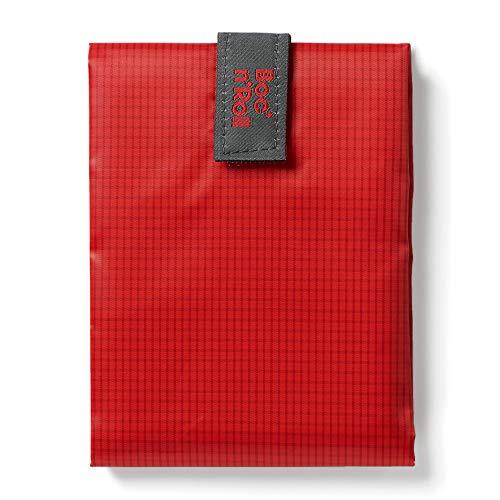 Roll\'eat - Boc\'n\'Roll Square | Wiederverwendbarer und Ökologischer Sandwichhalter ohne BPA, Rot