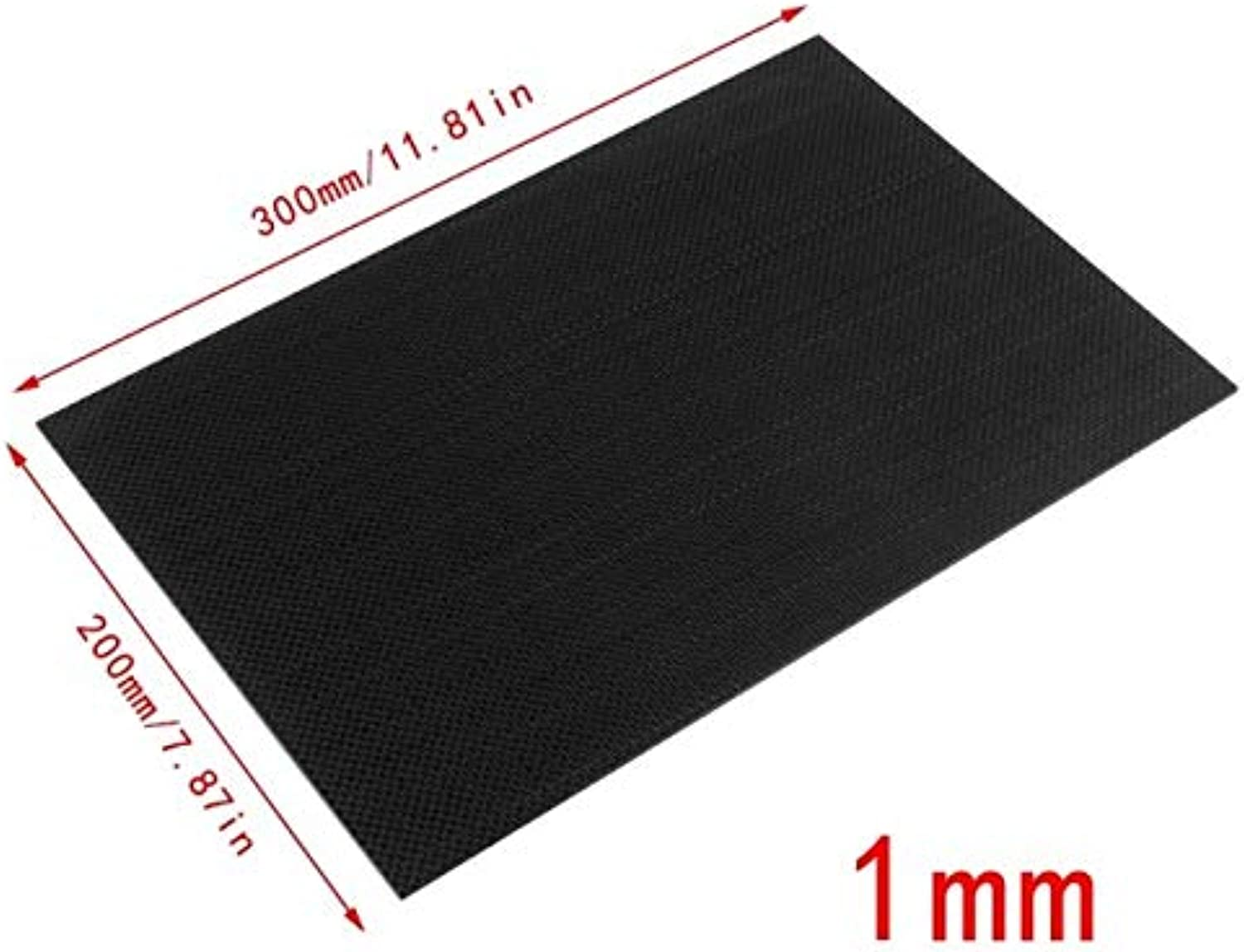 Laliva 100% Real Glossy Carbon Fiber Plate Panel Sheet 3K Plain Weave 200x300x3mm - (color  9LL300200-1Y)