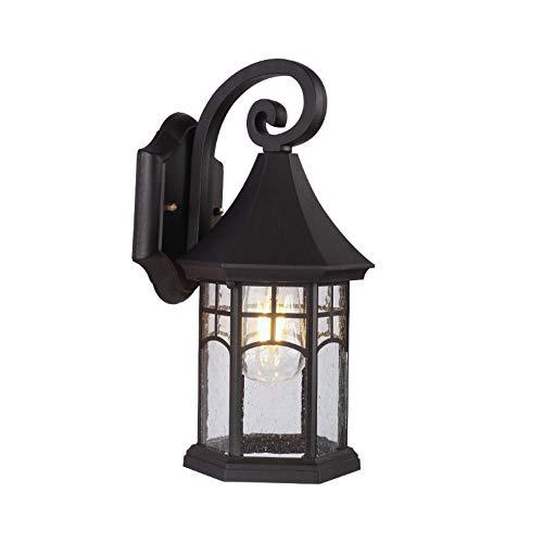 MJSM Light Wandlamp, buitenlamp, retro, trappen, balkon, buiten de muur, 19 x 17 x 35 cm