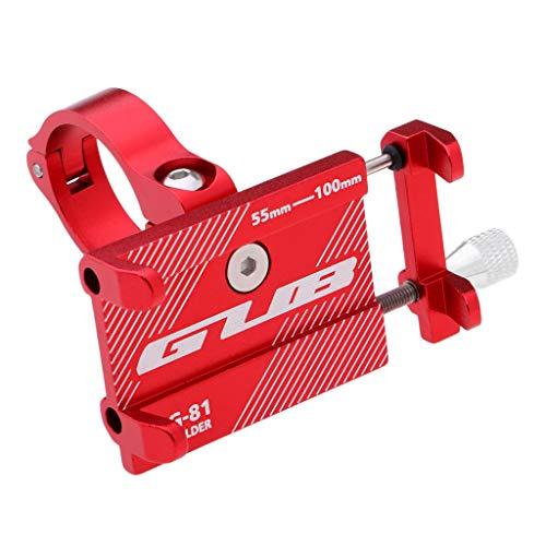 sharprepublic Soporte del Manillar del Soporte del Teléfono de La Bicicleta de La Bicicleta de La Aleación de Aluminio - Rojo