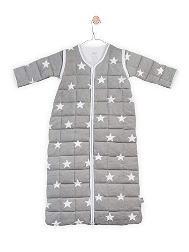 Jollein 016-542-64966 Schlafsack 4-Jahreszeite little star mit abnehmbaren Ärmeln, 110 cm, grau