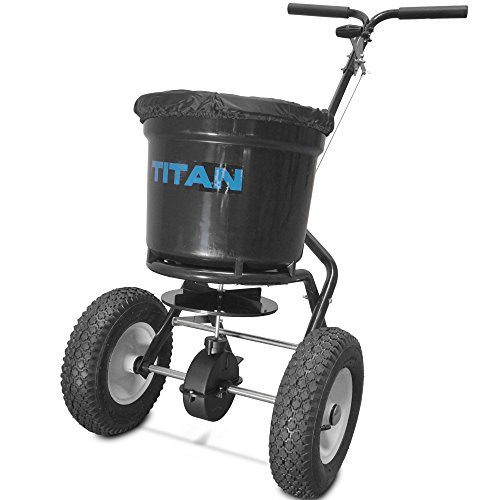 Titan Attachments Broadcast Spreader 50 lb. Drum 3 Positions...