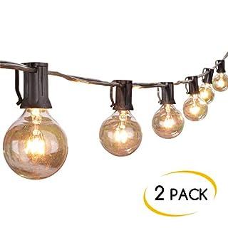 عرض 25Ft G40 سلسلة أضواء العالم مع لمبات