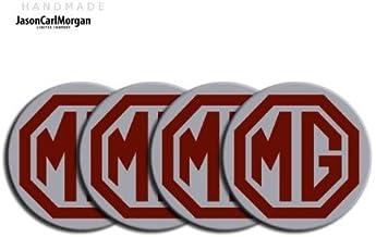 clr55/mm MG TF LE500/estilo burdeos y plata llantas de aleaci/ón Centro Tapa Badges
