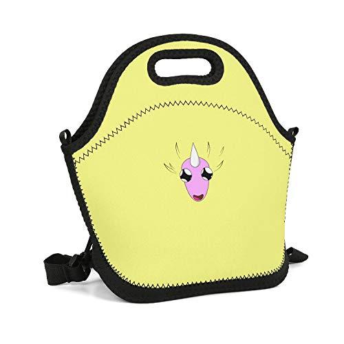 Slwari Cute Lady Rainicorn Rainbow Unicorn Yellow Lunch Bag for Kids Best Waterproof Neoprene Tote Gym