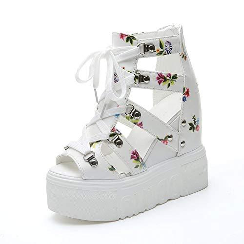 YYLP Summer Ladies Sandals High-Heeled Color Matching Cross Strap Women's Shoes Super High-Heeled Wedge Heel Sandals