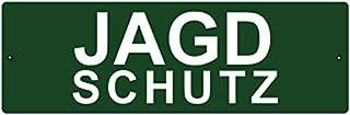 KUNSTSTOFFSCHILD mit Saugnapf Autoschild JAGDSCHUTZ Innenraum Auto Wagen