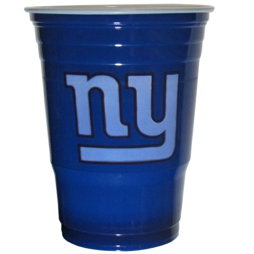 NFL Siskiyou Sports Fan Shop New York Giants Plastic Game Day Cups 18 count Team Color