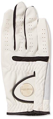 LONGRIDGE Golf All-Wetter Handschuh linkshändige Guantes para Mano Derecha, Hombre, (Weiß), L