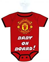 Manchester United FC Official Soccer Kit Baby On Board Car Window Sign