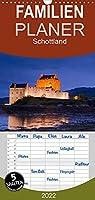 Schottland - Familienplaner hoch (Wandkalender 2022 , 21 cm x 45 cm, hoch): Natur, Architektur, Burgen und Orte aus Schottland im Norden des Vereinigten Koenigreiches (Monatskalender, 14 Seiten )