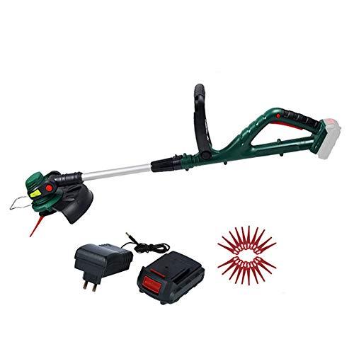 XFQ Hand Held Falciatrici, Multifunzione Portatile Grass Trimmer Regolabile Giardino Elettrico Senza Cordone Rotary Lawn Mower