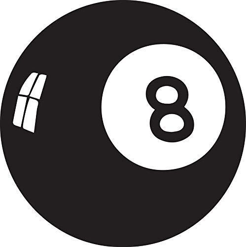Pegatina Promotion Billiard Kugel 8 Eight Aufkleber ca.20 cm Autoaufkleber,Wandtattoo, Waschanlagenfest, Profi-Qualität, Decal,Sticker