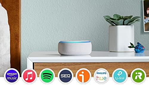 Oferta de Echo Dot (3.ª generación) - Altavoz inteligente con Alexa, tela de color gris claro