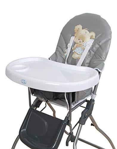 Trona para bebe plegable,modelo osito gris, silla bebé.DE REGALO BIBERON
