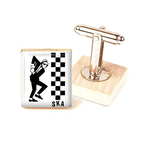 Ska Cufflinks handmade ska two tone dancing man cufflinks