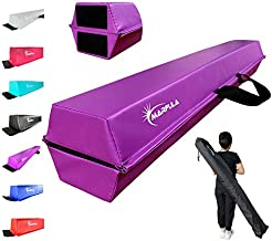 MARFULA 6 FT / 8 FT / 9 FT / 10 FT Folding Gymnastics Balance Beam - Extra Firm - PVC - Non Slip Base for for Home/Gym/Club