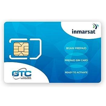 Inmarsat BGAN SIM de prepago (Sin tiempo de uso incluido): Amazon ...