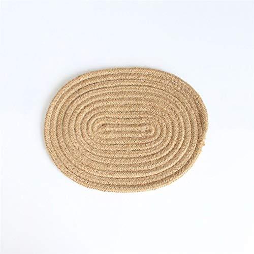 DerDer Dessous-de-verre rond en corde de coton résistant à la chaleur et tissé épais