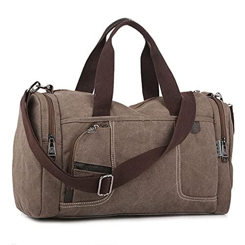 Bolso de Mano de Hombres Simple Casual Wild Capacity Bolsa Bolsa de Moda Bolsa de Hombro Bolsa de Hombro Bolsa de Viaje, Big Gym Bags Deporte (Color : Coffee, Size : W41H25D19 CM)