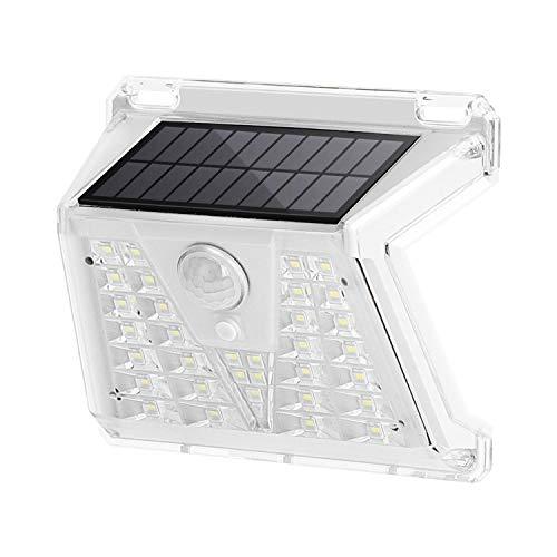 Aigostar - Faretto solare led per esterno ed interno, con sensore di movimento, IP65 e 4 modalità di illuminazione. Luce bianca 6500K, 120 gradi grandangolare
