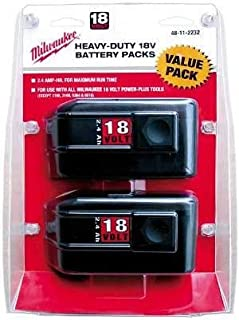 Battery Pack, 18V, NiCd, 2.4A/hr, PK2