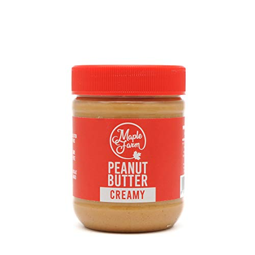 MapleFarm - Mantequilla de cacahuete 100% pura - CREAMY - 325g - 100% Pure peanut butter - Sin gluten. Sin azúcares añadidos. Apta para veganos. Sin aceite de palma.
