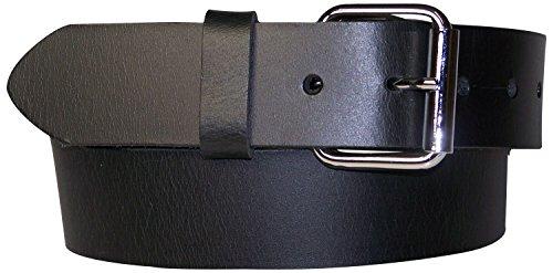 FRONHOFER Herrengürtel 4 cm unzerstörbarer Gürtel Stahl Gürtelschnalle, Rollschnalle Stahlschnalle, bruchfest, 18218, Größe:Körperumfang 100 cm/Gesamtlänge 115 cm, Farbe:Schwarz