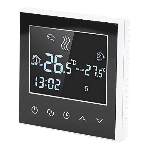 ftvogue Termostato Digital, Termostato de calefacción Wireless programable Wifi con pantalla táctil LCD Control de la aplicación de la temperatura del calentamiento Eléctrico Bajo el suelo