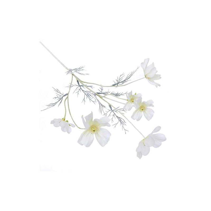silk flower arrangements dserw artificial flower, artificial coreopsis flower home party fake cosmos table centerpiece decor - pink