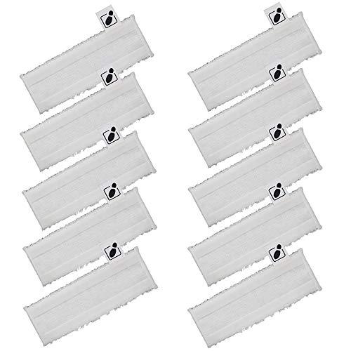 EMEXIN 10 Mikrofasertuch Easyfix Set Bodentücher für Kärcher SC2 SC3 SC4 SC5 Dampfreiniger Easyfix Bodendüse, Klettverschluss, einfache Befestigung und Fußklappe am Bodentuch
