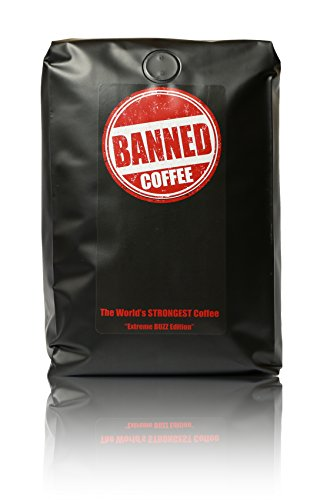 Banned Coffee Whole Bean World s Strongest Coffee - Super Strong Caffeine Content - Our Best Flavor Medium Dark Roast (Whole Bean, 2 lb)