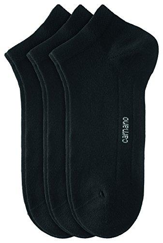 Camano Unisex - Erwachsene Sneakersöckchen 9-er Pack, 3003 - schwarz - 35-38