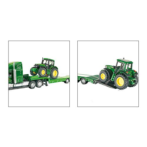 Siku - 1:87 Scale - Low Loader With John Deere Tractors