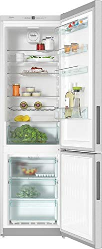 Miele KFN 29162 D EDT CS, Frigo-congelatore da Libero Posizionamento, No Frost, A++, 42 dB, 2,0 mt Altezza, 338 lt, Acciaio Inox. Classe Energetica E