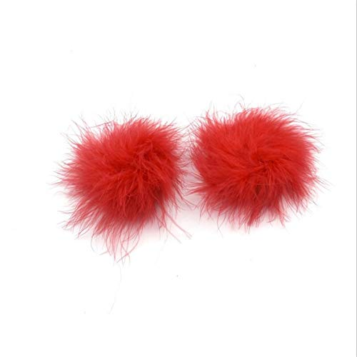 1 Pairs Sexy Feather Bra Nipple Cover Stickers Petals Zoogcompressen Intimates accessoires 6 Kleuren (Color : Red, Size : Free)