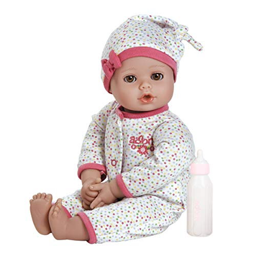 Adora Playtime Dot 13 inch Baby Doll with spotty sleeper, hat and Bottle