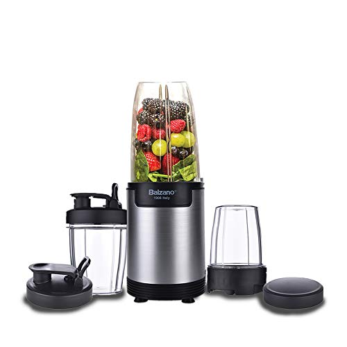 Balzano Bullet High Speed Blender/Mixer/Smoothie Maker - 900 Watts - 10 Pcs Set; Silver
