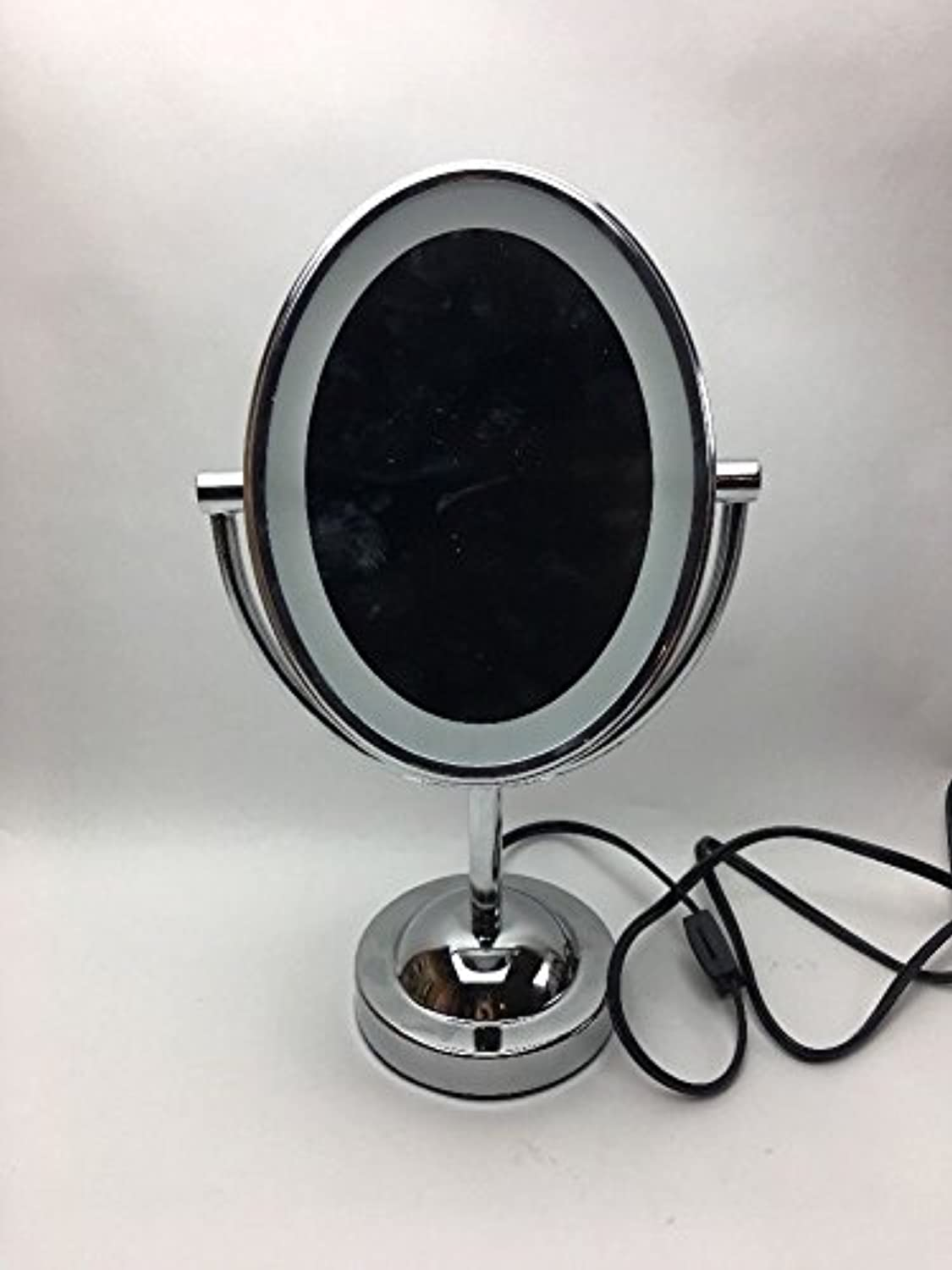 Makeup Mirror, Shaped Double-Sided Lighted ; 1x 7x Magnification