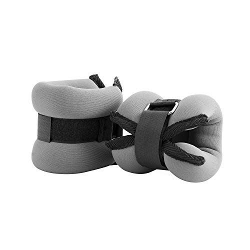 Cap Barbell HHA 005GY Cap Pair AnkleWrist Weights Gray 5 lb