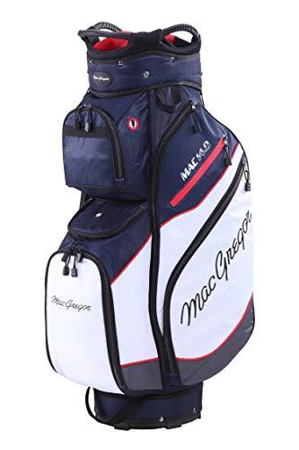 MacGregor MACTEC 14.0 - Bolsa de Golf para Hombre, Color Azul Marino/Blanco/Rojo, Talla única